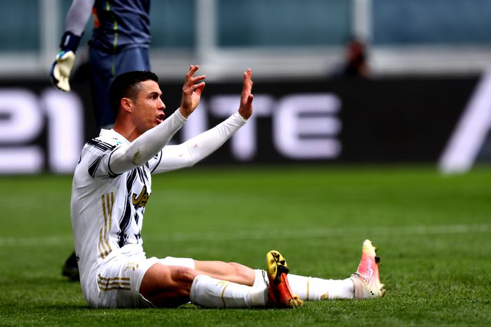 Cristiano Ronaldo hafði allt á hornum sér gegn Genoa.