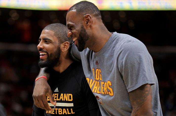 LeBron James og Kyrie Irving hafa báðir yfirgefið Cleveland á rúmu ári.
