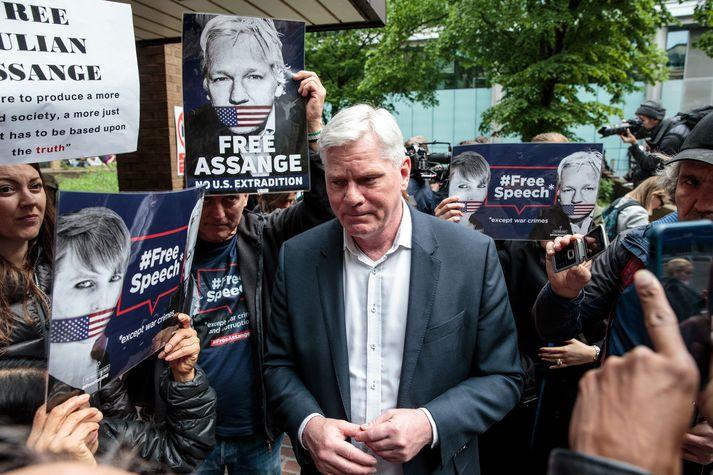 Kristinn fagnar tíðindum dagsins í máli Assange en segir baráttunni hvergi nærri lokið.
