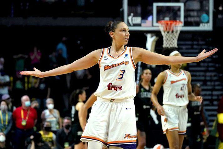 Diana Taurasi er leiðtogi Phoenix Mercury liðsins og einn besti leikmaðurinn í sögu WNBA deildarinnar.