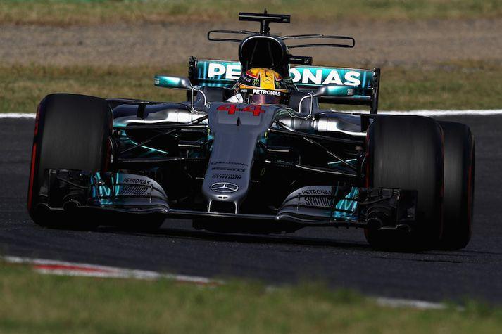 Lewis Hamilton gerði svo gott sem út um titlbaráttuna í dag.