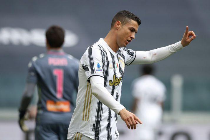 Cristiano Ronaldo er ekki að fara að spila í neinni ofurdeild með Juventus að svo stöddu en ef svo færi þá gæti Juventus ekki keppt um ítalska meistaratitilinn.
