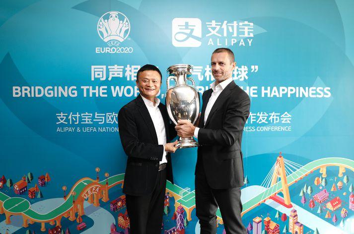 Aleksander Ceferin og Jack Ma.