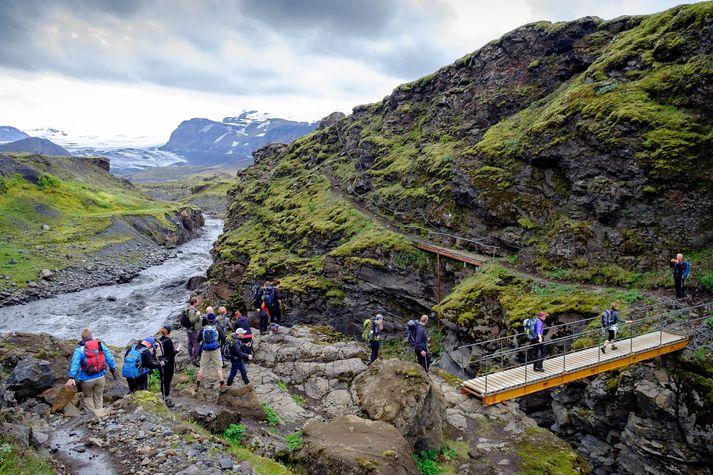 Íslenskir göngugarpar hafa sótt í sig veðrið í sumar.