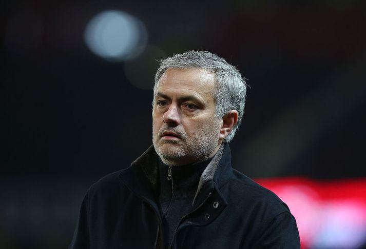 Stuðningsmenn United voru oft pirraðir á Mourinho í vetur.