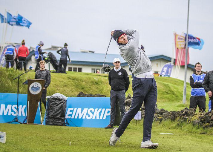 Axel Bóasson er Íslandsmeistari í golfi 2018