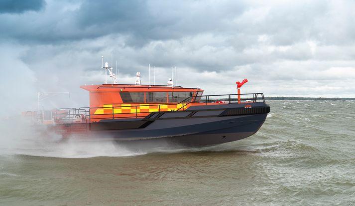 Svona munu ný björgunarskip Landsbjargar koma til með að líta út.