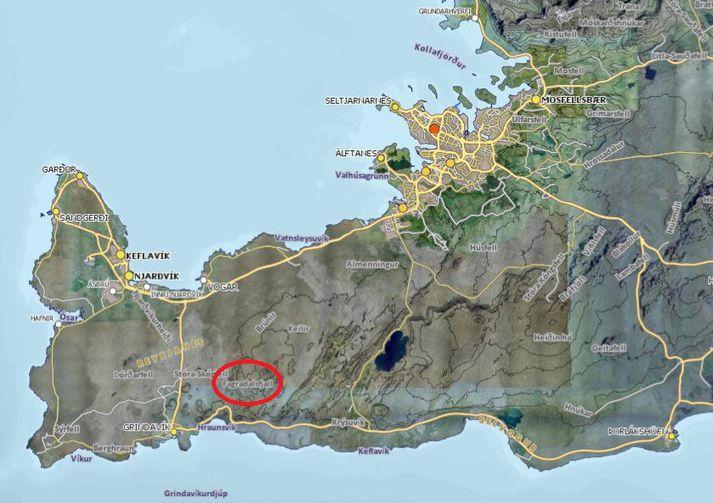 Upptök skjálftanna hafa verið í kringum Fagradalsfjall á Reykjanesi.