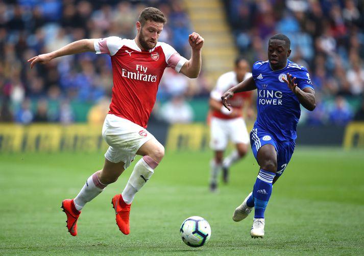 Mustafi í leik gegn Leicester.