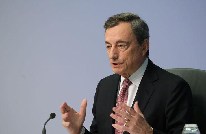 Hinn 73 ára Mario Draghi gegndi embætti seðlabankastjóra Evrópu í átta ár, frá 2011 til 2019.