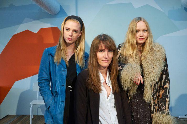 Kristín Dahl, Hafrún og Saga Sig eru meðal þeirra sem munu selja föt á Lofti á morgun.