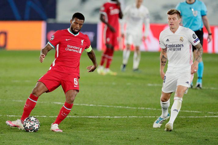 Georginio Wijnaldum mætti í viðtal eftir 3-1 tap Liverpool í kvöld.