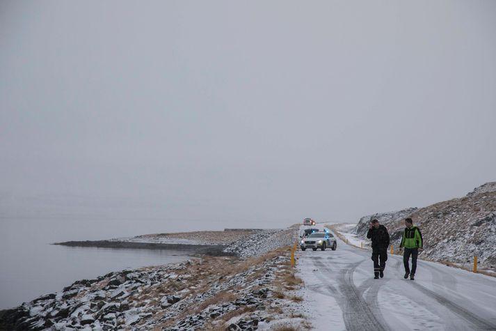 Z miejsca wypadku, do którego doszło w fiordzieSkötufjörður.