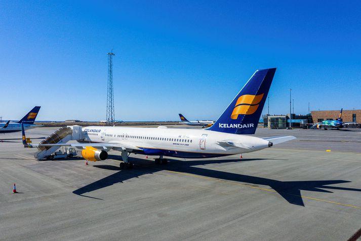 Flugvélar Icelandair á Keflavíkurflugvelli.