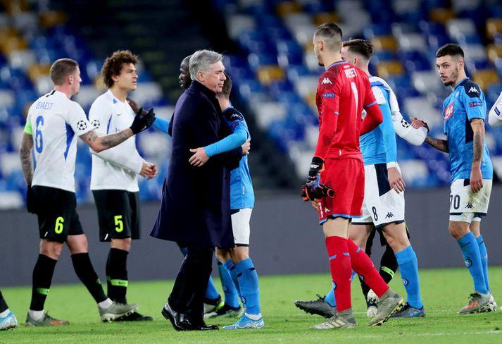 Carlo Ancelotti eftir leikinn í gær.