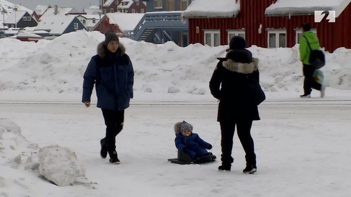 Frá Nuuk á Grænlandi.