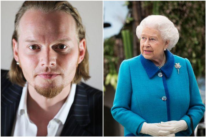 Kristján Eyjólfsson gullsmiður hannaði og smíðaði nælu fyrir drottninguna árið 2012 og fékk svo að hitta hana í kjölfarið.