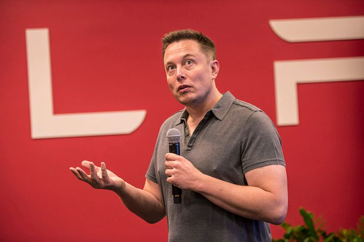 Elon Musk hóf deilur við dóttur leirlistamannsins á Twitter í vikunni.