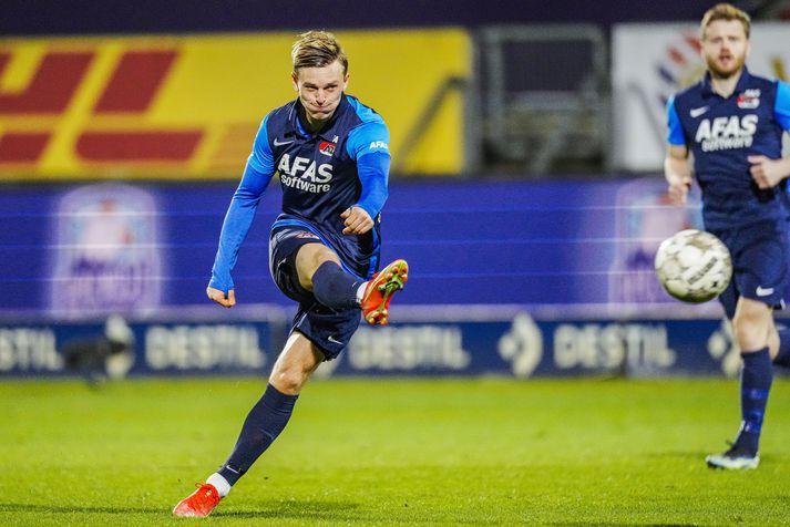 Albert Guðmundsson skoraði sigurmark AZ Alkmaar gegn Willem II um helgina.