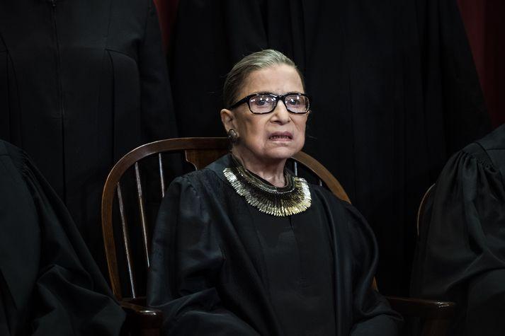 Ruth Bader Ginsburg hefur setið í Hæstarétti Bandaríkjanna frá árinu 1993.