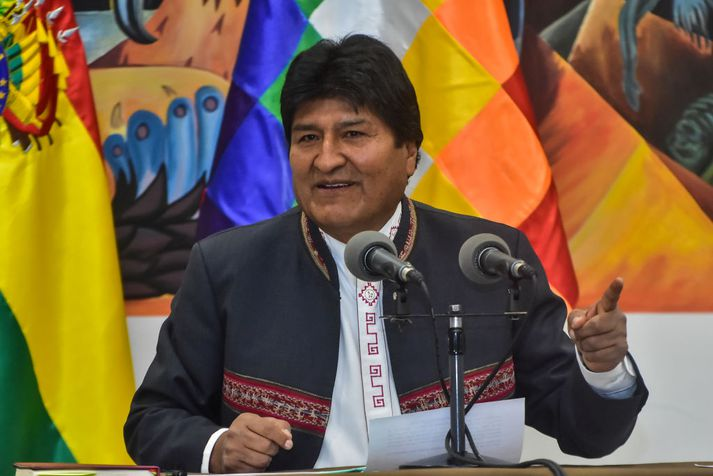 Evo Morales, fyrrverandi forseti Bólivíu.