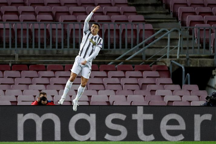 Ronaldo leiddist ekki að skora tvívegis í kvöld.