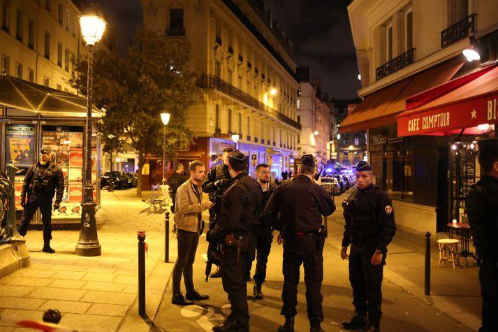 Árásin var framin í Opéra hverfinu í miðborg Parísar.