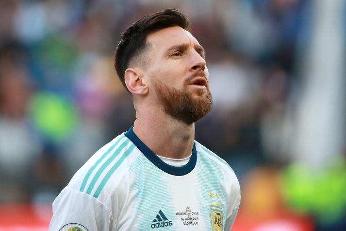 Messi á Suður-Ameríkukeppninni í sumar.
