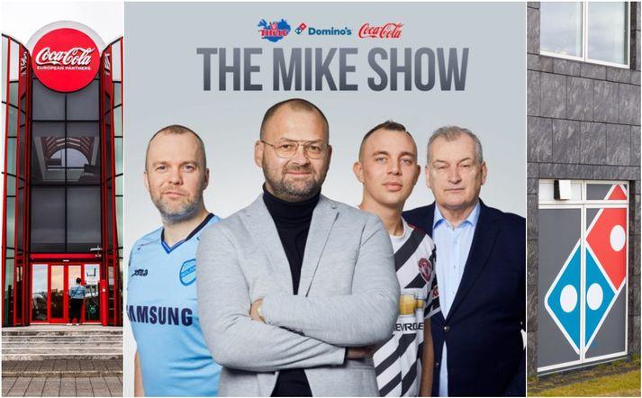 The Mike Show hefur borið merki Thule, Domino's og Coca-Cola.
