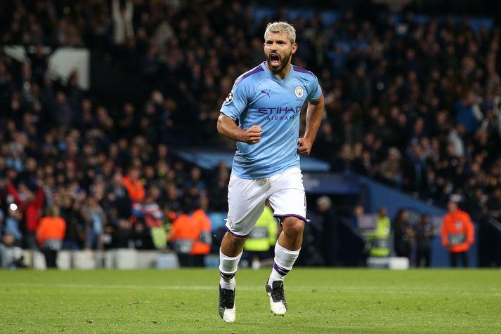Sergio Aguero varð Englandsmeistari með Manchester City í vor