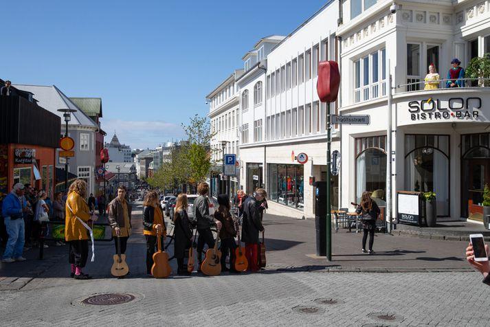 Það er spáð fínu veðri í höfuðborginni í dag.