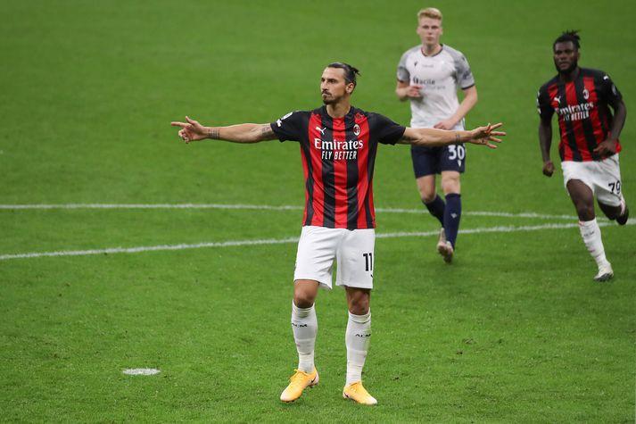 Zlatan Ibrahimovic hefur skorað fjórtán mörk í 22 leikjum síðan hann kom aftur til AC Milan um áramótin.