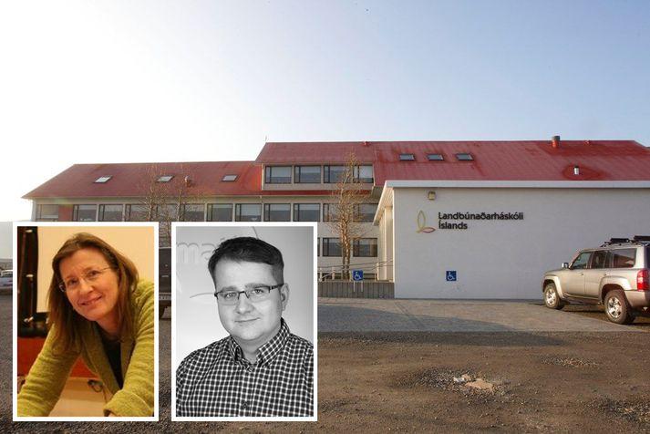Anna Guðrún Þórhallsdóttir prófessor og Sæmundur Sveinsson, settur rektor Landbúnaðarháskóla Íslands árið 2017.