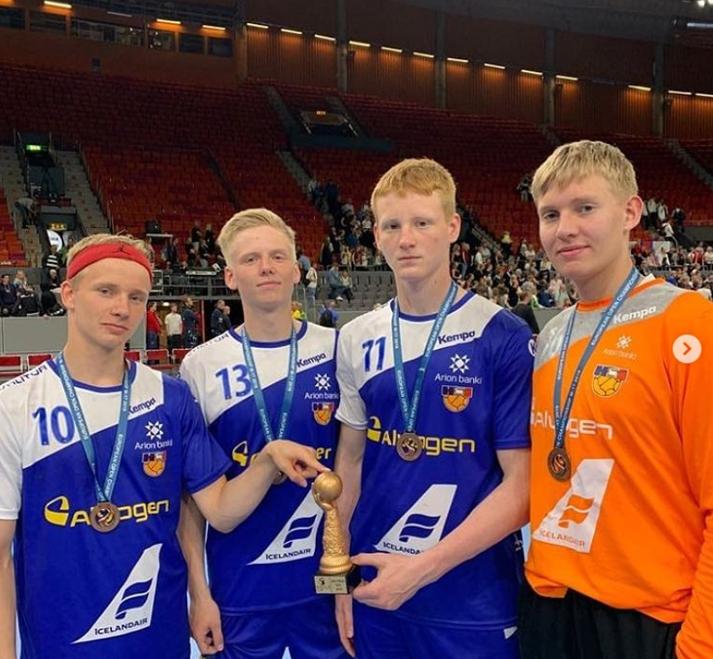 Á myndinni má sjá Benedikt Gunnar Óskarsson, Kristófer Mána Jónasson, Arnór Viðarsson og Magnús Gunnar Karlsson.
