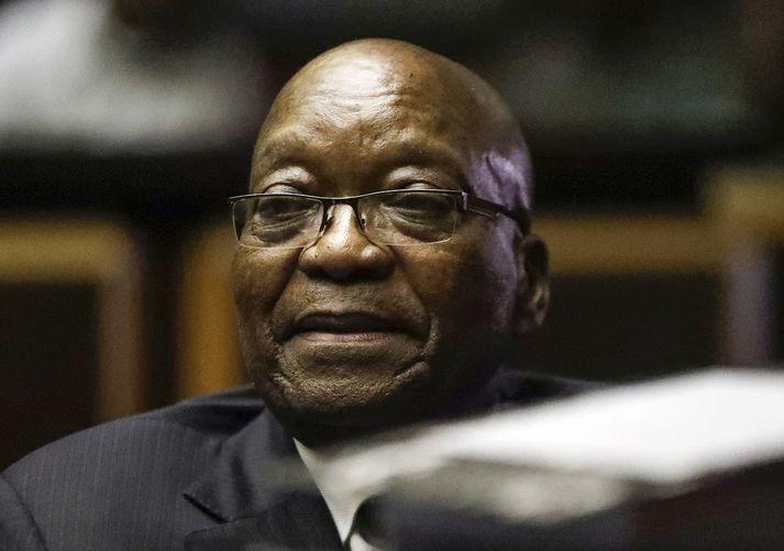 Zuma var forseti Suður-Afríku frá 2009 til 2018.