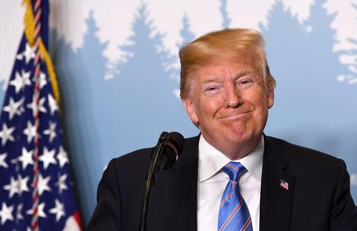 Donald Trump Bandaríkjaforseti notar gjarnan Twitter til að skjóta á pólitíska andstæðinga sína.