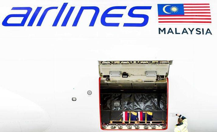Vél Malaysia Airlines hrapaði yfir austurhluta Úkraínu eftir að skotið var á hana. Allir 298 farþegar um borð létu lífið.