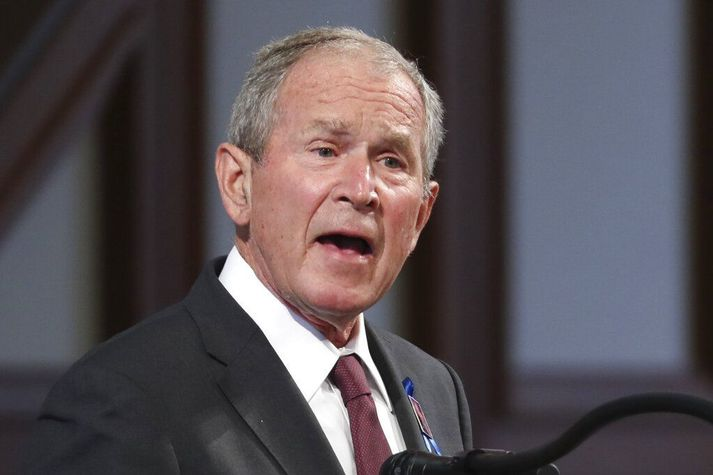 George W. Bush var í viðtölum í bandarískum fjölmiðlum vegna útgáfu nýrrar bókar hans um innflytjendur í síðustu viku. Þar harmaði hann hvernig komið væri fyrir flokki hans.