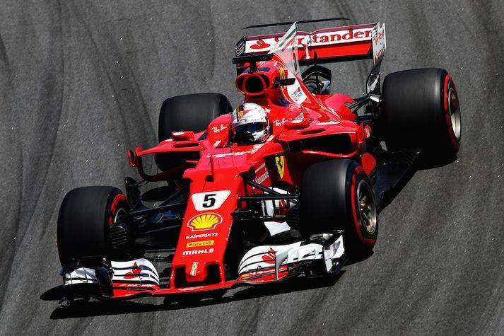 Sebastian Vettel átti afar góðan dag.