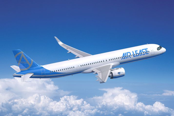 Airbus A321XLR, í litum Air Lease. Stefnt er að því hún verði komin í rekstur hjá flugfélögum árið 2023.