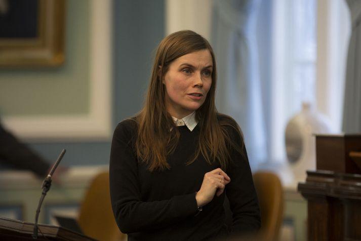 Katrín Jakobsdóttir, forsætisráðherra og formaður Vinstri grænna.