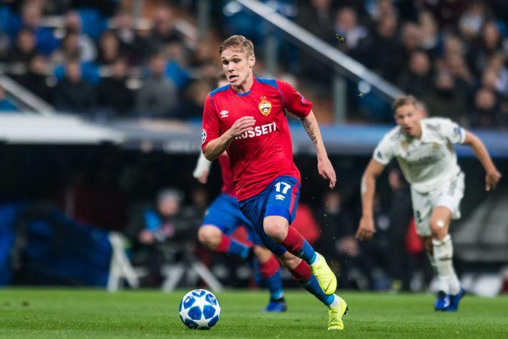Arnór Sigurðsson í leik með CSKA Moskvu.