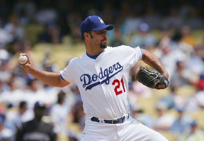 Loaiza í leik með LA Dodgers.