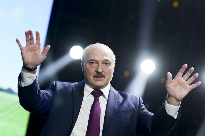 Alexander Lukashenka, forseti Hvíta-Rússlands, sem gjarnan er kallaður síðasti einræðisherra Evrópu.