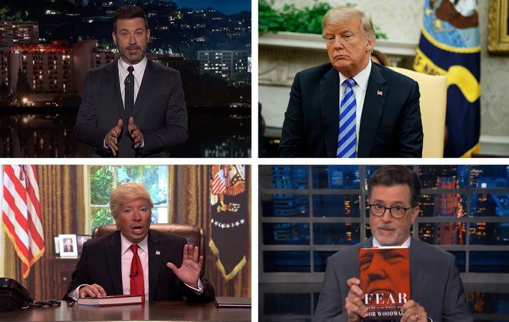 Jimmy Kimmel sagðist viss um að hann vissi hver hefði skrifað greinina í New York Times.
