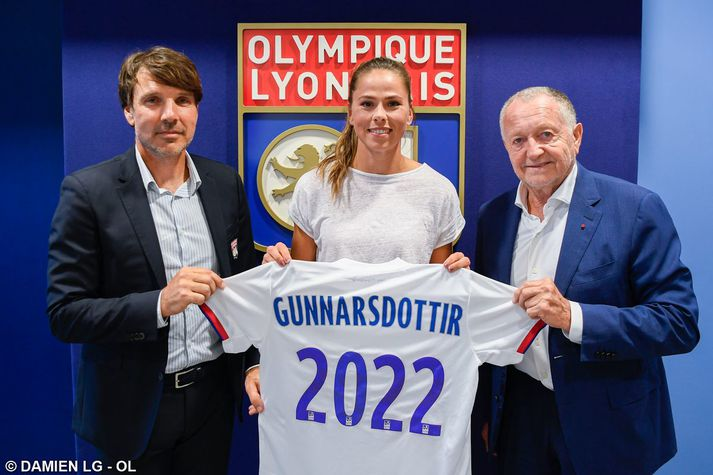 Sara Björk Gunnarsdóttir kom til Lyon fyrir skömmu og gerði samning við félagið sem gildir til ársins 2022.