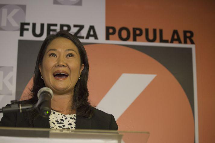 Keiko Fujimori hefur setið inni í rúmt ár.