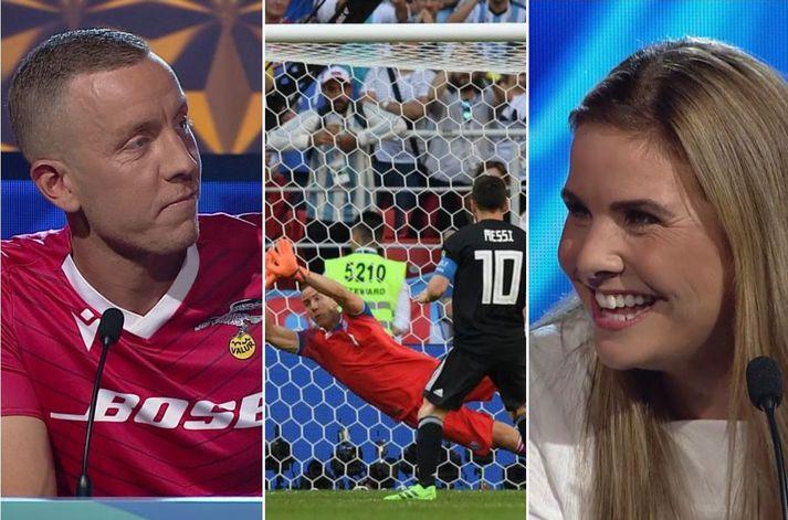 Hannes fékk loksins að ræða þetta stóra Messi mál við Eddu Sif.
