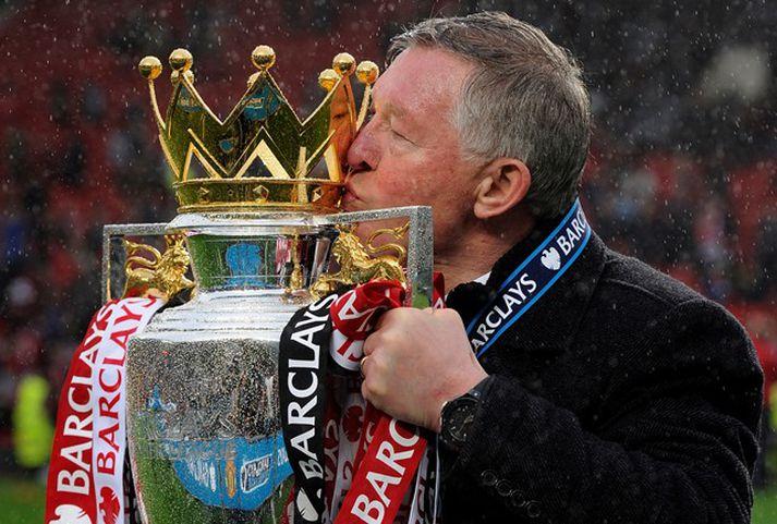 Sir Alex Ferguson lyfti þessum bikar 13 sinnum sem stjóri Manchester United.