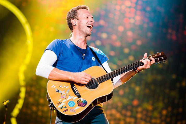 Chris Martin á tónleikum Coldplay í Brasilíu árið 2017.